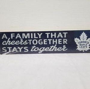 Other - TORONTO MAPLE LEAFS FAMILY WOOD SIGN